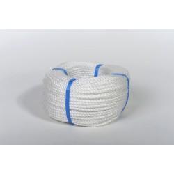 Cordage polypropylène câblé blanc