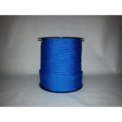 Cordage polypropylène tressé bleu