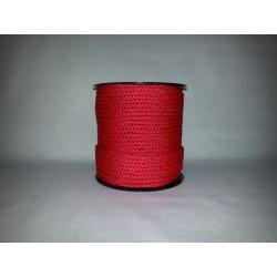 Cordage polypropylène tressé rouge